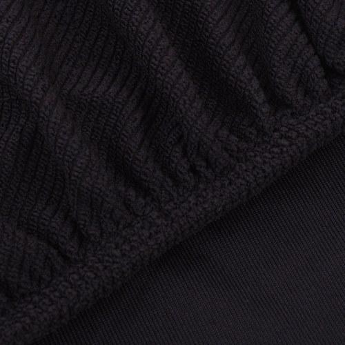 gestrickten Polyester-Stuhlabdeckung dehnbar 6 Stück braun
