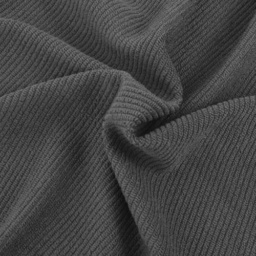 gestrickten Polyester-Stuhlabdeckung dehnbar 6 Stück grau