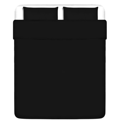 Drei  Bettbezug Stück Baumwolle schwarz 200x220 / 60x70 cm