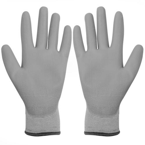 Arbeitshandschuhe PU 24 Paar weiße und graue Größe 9 / L