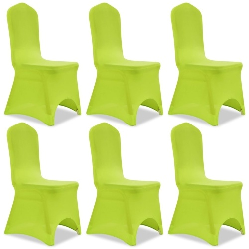 extensible chair cover 6 pcs green