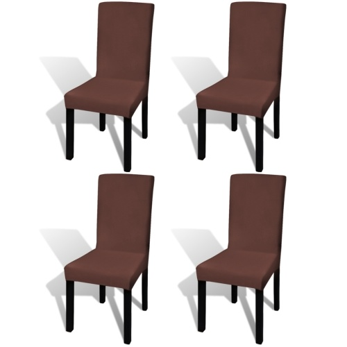 stretch right chair cover 4 pcs brown