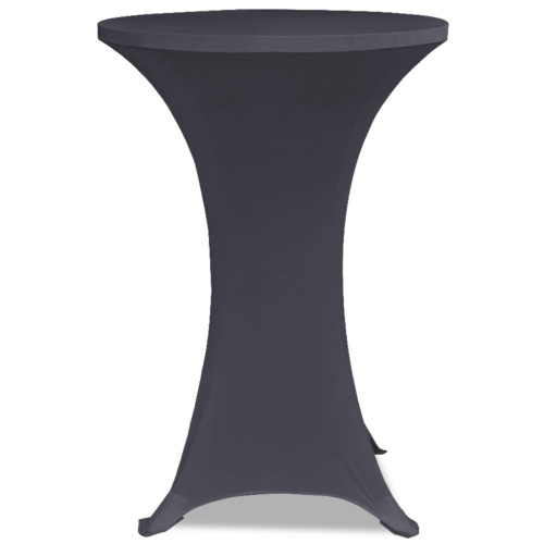 extensible table cover 2 pcs 70 cm anthracite