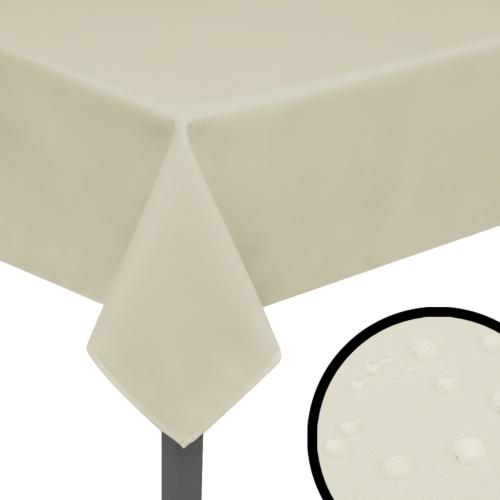 tablecloths 5 pieces 190 x 130 cm cream