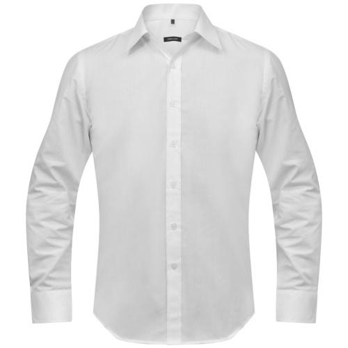 men's shirt size l white