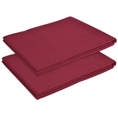 Foglio per letto 2 pezzi Cotone 240 x 260 cm Bordeaux