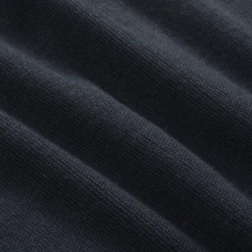 Maglione zip blu navy da uomo, taglia XL
