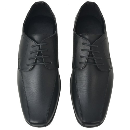 Scarpe stringate uomo nere in pelle PU 44