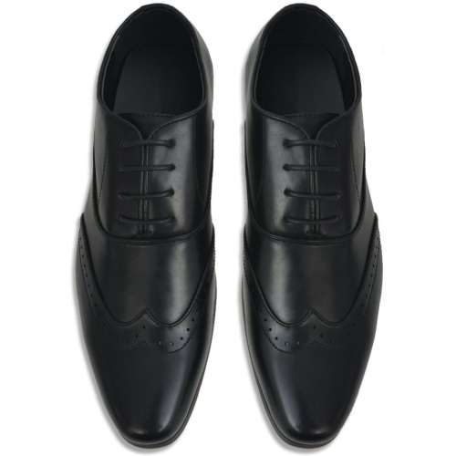 Men's Lace-up Shoes Black Size 40 PU Leather