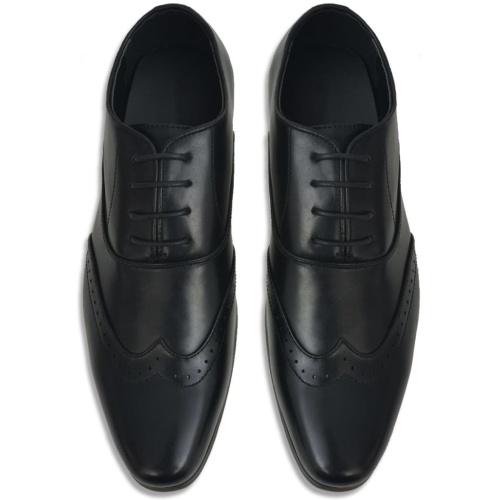 Chaussures richelieu à lacets pour hommes Noir Pointure 43 Cuir PU