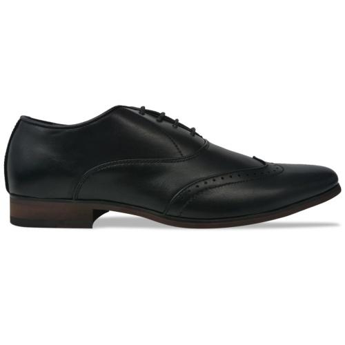 Chaussures à lacets pour hommes Noir Pointure 44 Cuir PU