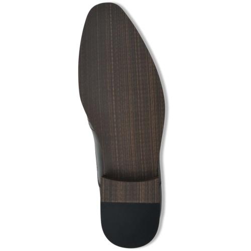 Chaussures à lacets pour hommes Noir Pointure 45 Cuir PU