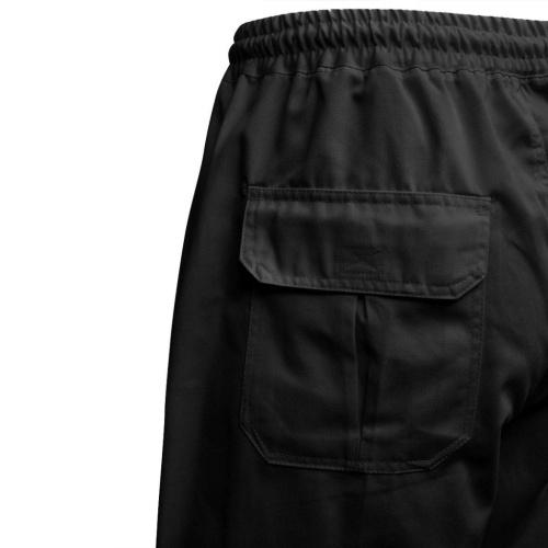 Calças de cozinheiro Elasticated waist and drawstring 2 pcs M Preto