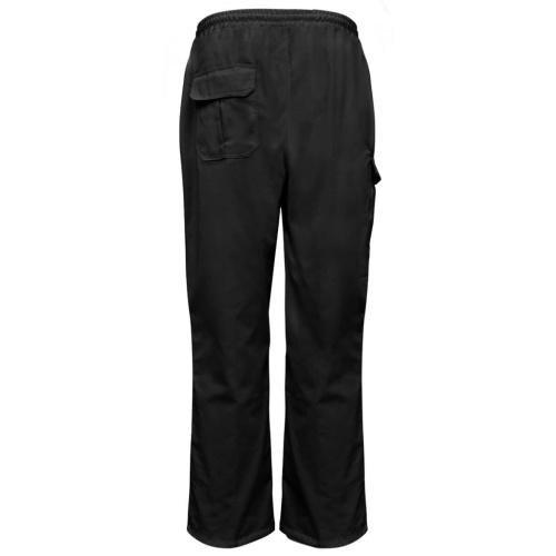Calças de cozinheiro Elasticated waist and drawstring 2 peças L Black