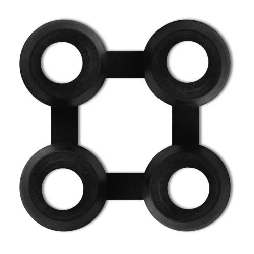 Tappeti Connettori 20 pezzi gomma nera