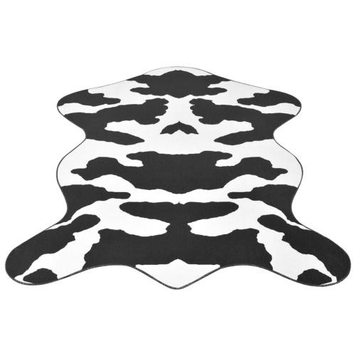 Tappeto 70x110 cm Stampa a mucca nera