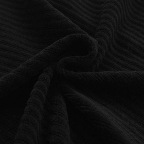 Раскладной чехол для дивана Широкие полоски Черный