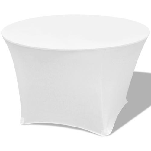 Coperchi estensibili per tavolo 2 pezzi Rotondo 150x74cm Bianco
