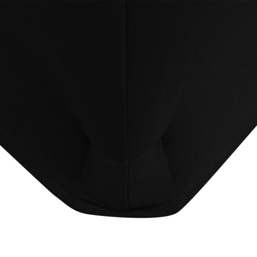 Coperchi estensibili per tavolo 2 pezzi Rotondo 150 x 74 cm Nero