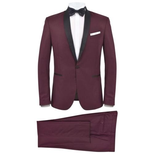 Evening tuxedo 2 pieces 48 Bordeaux