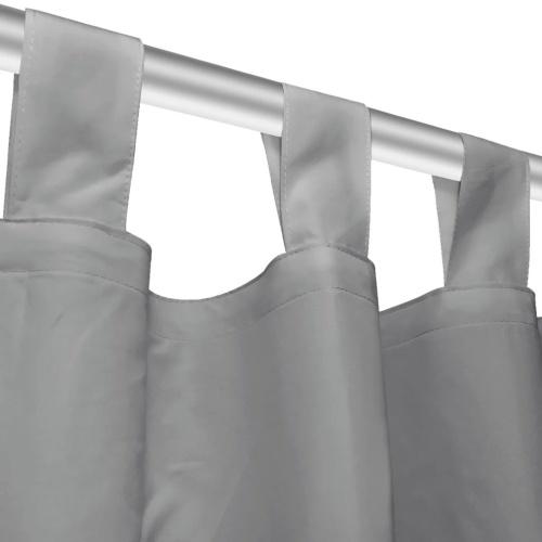 Занавес с застежкой с пряжками 2 шт. 140 х 175 см. Серый
