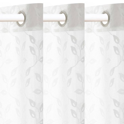 Festnight Knitted Curtains Transparent 2 pcs 140x175 cm Sheets White