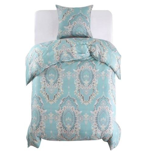 Festnight Duvet Cover with Printed 2 pcs Blue Micro-Satin Polyester 135x200 / 80x80 cm
