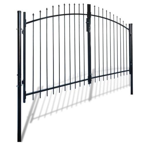 Portail double porte surmonté de piques 300 x 200 cm