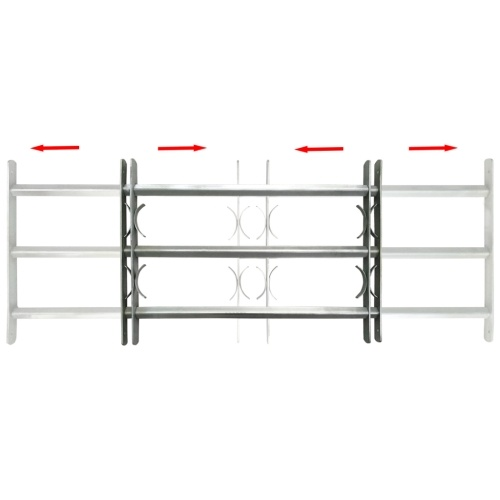 Adjustable defense grid with 3 crosspieces for 1000-1500 mm window