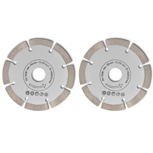 2 disques diamantés pour meuleuse 115 mm