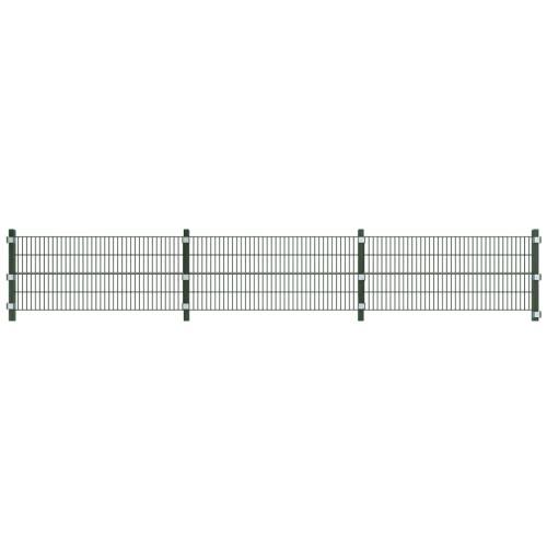 Установить забор панели с полюсами 6 м и 0,8 м в высоту