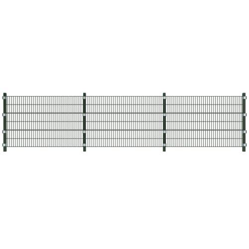 Установить забор панели с полюсами 6 м и высотой 1,2 м