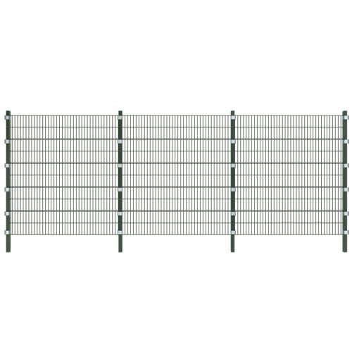 Установить забор панели с полюсами 6 м и высотой 2 м