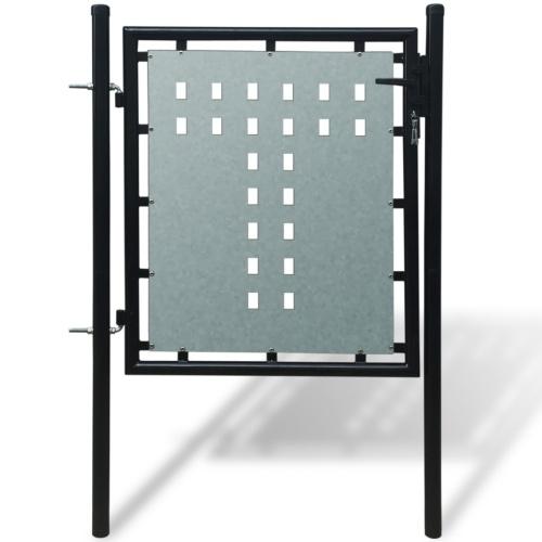 cancello giardino singole nero 100 x 150 cm