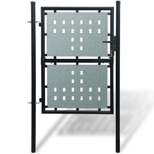 cancello giardino singole nero 100 x 225 cm