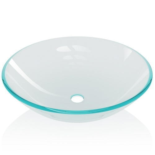 Lavabo in vetro temperato 42 cm trasparente