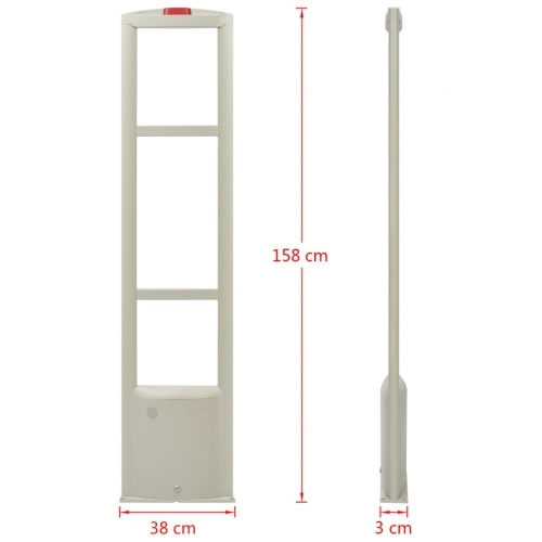 RF antenna system with 8.2 MHz transmitter and receiver White