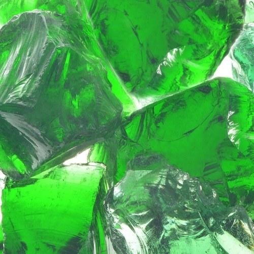 Садовые породы Зеленое стекло 60-120 мм 25 кг