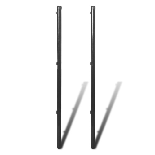 Recinzione per recinzione a rete 2 pezzi 195 cm Grigio