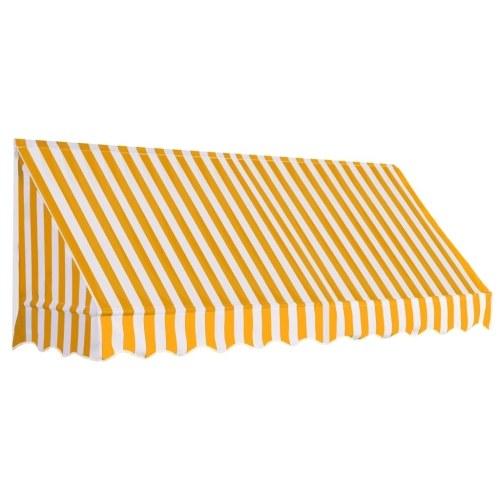 Store Banne Auvent de bistro 250x120 cm Orange et blanc