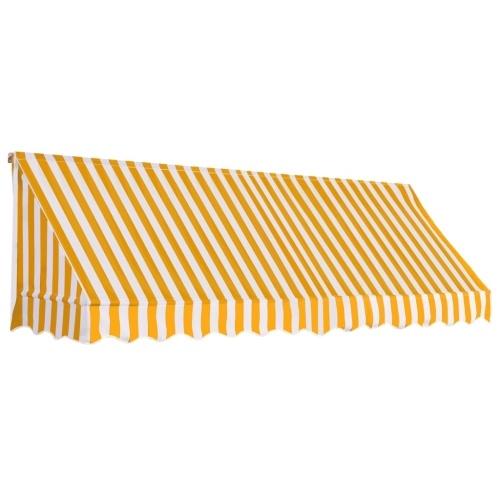 Store Banne Auvent de bistro 300x120 cm Orange et blanc