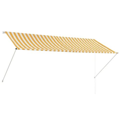 Store Banne Auvent rétractable 300x150 cm Jaune et blanc
