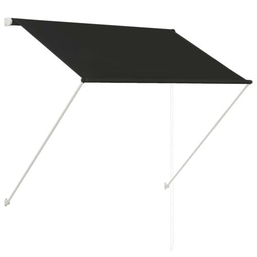 Store Banne Auvent rétractable 150x150 cm Anthracite