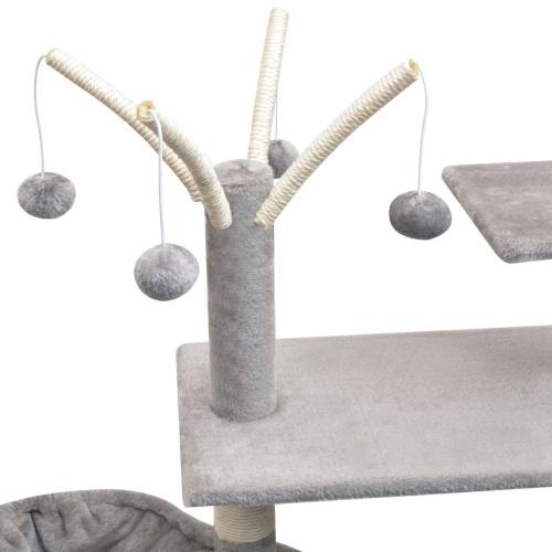 Cat tree with sisal scratchers 125 cm Gray