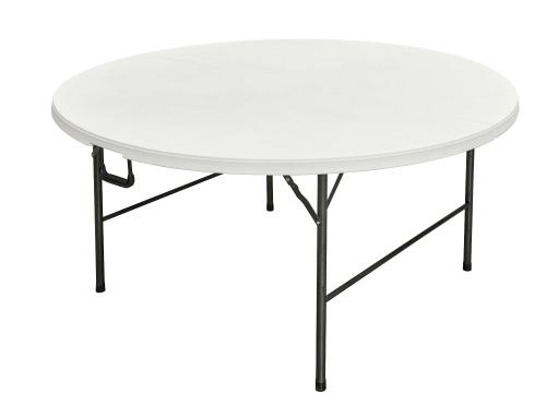 Runder Event Klapptisch 180cm weiß - zusammenklappbare Tischplatte