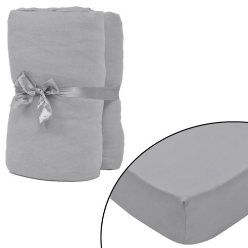 cotton sheet set 2 pcs 150 g / ㎡ 90x190-100x200 cm gray
