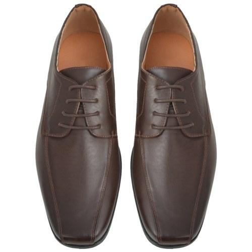 Herren Business-Kleid Schuhe Schnürsenkel braun t 42 PU-Leder