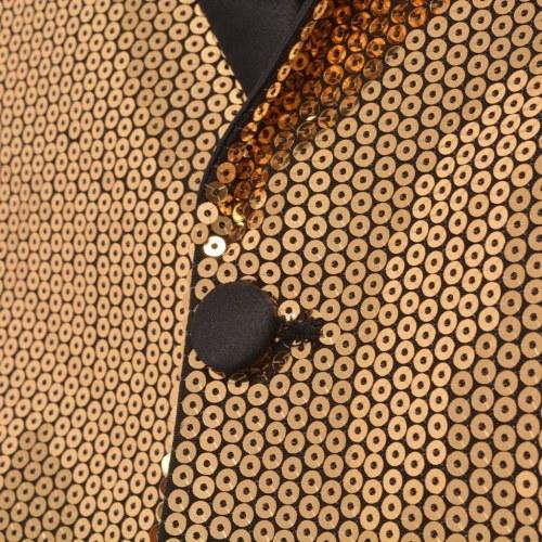 Veste de paillettes pour le smoking des hommes d'or taille 50
