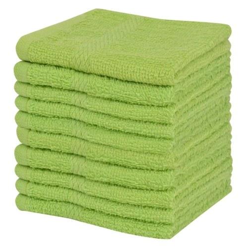 Serviette gratuite 10 pcs. 100% coton 360 g / m² 30x30cm vert
