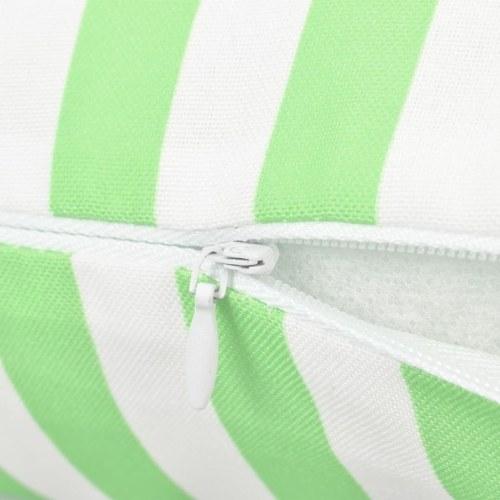 Outdoor-Kissen gestreift 45x45 cm apfelgrün 2 Einheiten